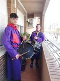 Toque de tambor desde los balcones