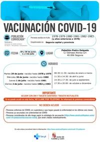 Estas son las convocatorias para vacunarse la próxima semana