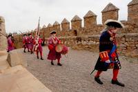 El sencillo acto de recreación de la Batalla de Almansa se tornó en un homenaje a los héroes que luchan contra la pandemia