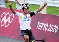 Carapaz, campeón olímpico de ciclismo en ruta