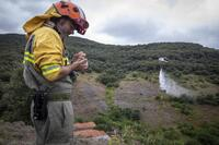 Simulacro de incendio forestal