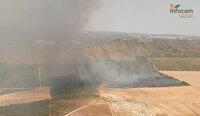 Intentan extinguir un incendio en Tobarra