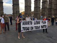 Protesta por los traslados fuera de Segovia para abortar