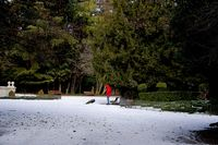 Restos de nieve y hielo en el Campo G...