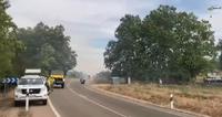 Cortado el tráfico en la Carretera Renedo por un incendio