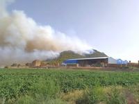 Desalojan una finca de Tobarra por el incendio
