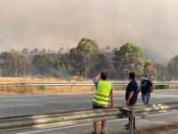 Moreno muestra apoyo al dispositivo contra el incendio
