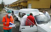 Vacunación contra el coronavirus desde el coche en varios pueblos de Salamanca
