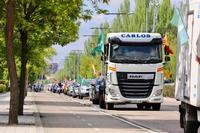 Caravana por el Día del Trabajador convocada por el sindicato Solidaridad
