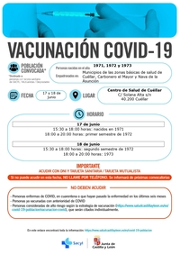 Sanidad lanza nuevos llamamientos para vacunarse en Cuéllar
