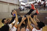 El Albacete FS celebró en casa su regreso a Segunda División B tras la victoria sobre el UDAF Afanion
