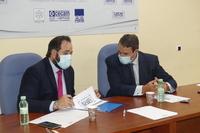 CEOE enseña el plan de movilidad al presidente del PP en CLM