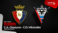 Osasuna- Mirandés, en directo, en Navarra Televisión
