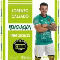 Lorenzo Calzado cierra las renovaciones del BM Bolaños