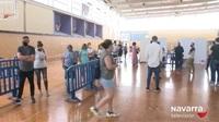 Comienzan a vacunar en Tudela a los menores de 40 años