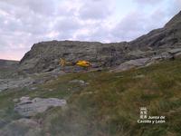 Rescatado un montañero en Zapardiel de la Ribera