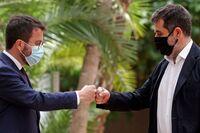 Aragonès promete lealtad para avanzar hacia la independencia