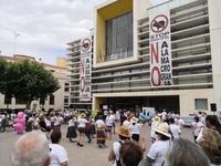 Manifestación contra la ganadería industrial en Quintanar