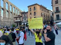 Una marea de colombianos protesta en Segovia contra el Gobierno de Iván Duque
