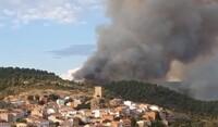 El incendio de Víllora llegó a rodear a la población