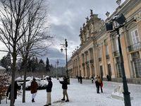 Nieve en el Palacio Real de La Granja