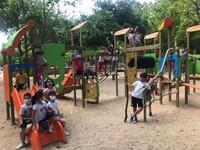 Medio centenar de niños acude a la Ludoteca de La Roda
