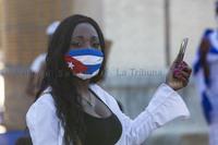 Decenas de cubanos en Albacete piden libertad en su país