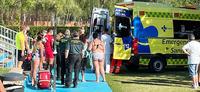 Un ahogamiento, a punto de acabar en tragedia en Saldaña