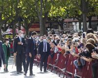 El Rey Felipe VI recorre el Logroño del V Centenario