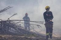 Un incendio de matorral provoca la alarma en Logroño