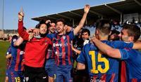 Celebración del ascenso de la Segoviana