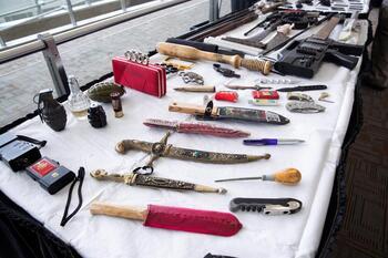 Récord de pasajeros con armas en los aeropuertos de Florida