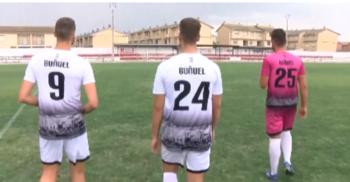 Tres hermanos comparten elástica en el Club Deportivo Buñuel