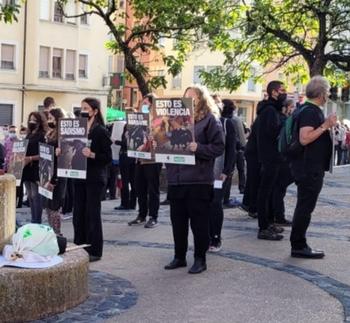 Protesta contra la tauromaquia en la plaza de Soria