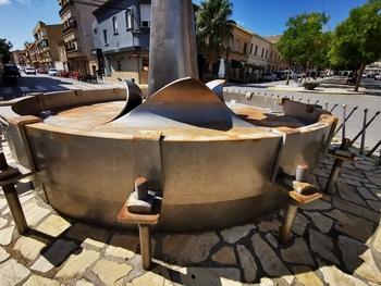 Todo listo para reparar el Monumento al Tambor de Tobarra