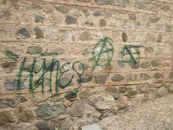 «Las pintadas en la muralla son indignantes y delictivas»
