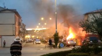 Fuego en el centro de El Burgo de Osma
