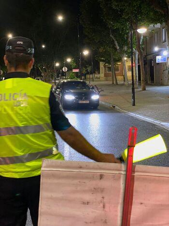 La Policía Local sorprende a un conductor ebrio