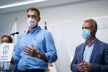 Sánchez hace un llamamiento a la prudencia en La Palma