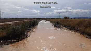 Solo llovió con fuerza en Higueruela