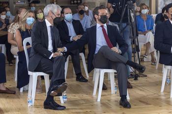 Tajani y Tusk, en la convención del PP en Valladolid