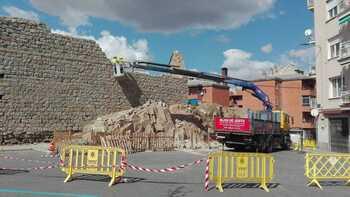 Arrancan las obras de emergencia en el muro de Las Gordillas