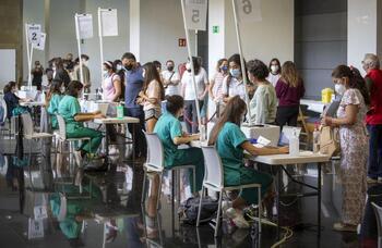 Salud dejará de vacunar en Riojaforum el 24 de septiembre