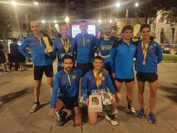 El club Saturno, campeón de España M40 de 10K