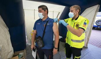 La unidad de vacunación contra el Covid paró en el campus