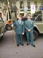 Representación de la Hermandad de Guardias Civiles Auxiliares en el desfile del Día de la Hispanidad